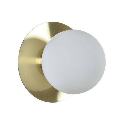 Corep Manor-kinkiet okrągły metal i szkło Ø18cm
