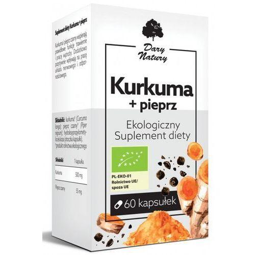KURKUMA Z PIEPRZEM BIO 60 KAPSUŁEK (555 mg) - DARY NATURY, BP_12860