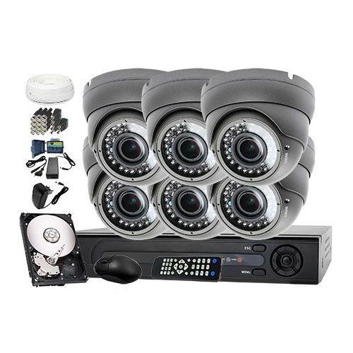 Zestaw do monitoringu: Rejestrator LV-XVR84 + 6x Kamera LV-AL40HVD + dysk 1TB + akcesoria, ZM6648