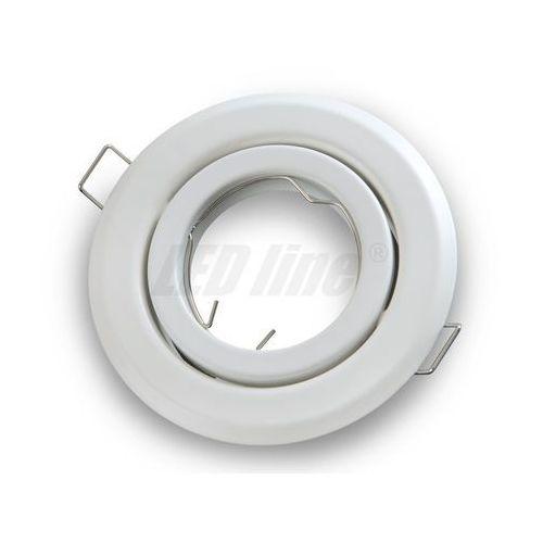 Oprawa halogenowa sufitowa okrągła ruchoma, tłoczona - biała matowa (5901583242793)