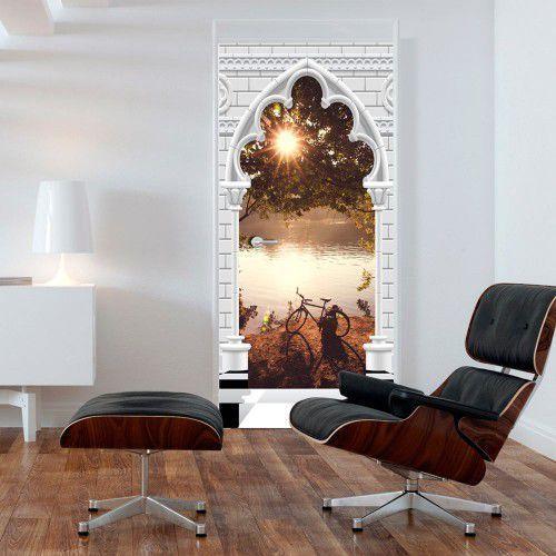 Artgeist Fototapeta na drzwi - tapeta na drzwi - łuk gotycki i jezioro