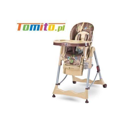 Wysokie krzesełko do karmienia magnus beige marki Caretero