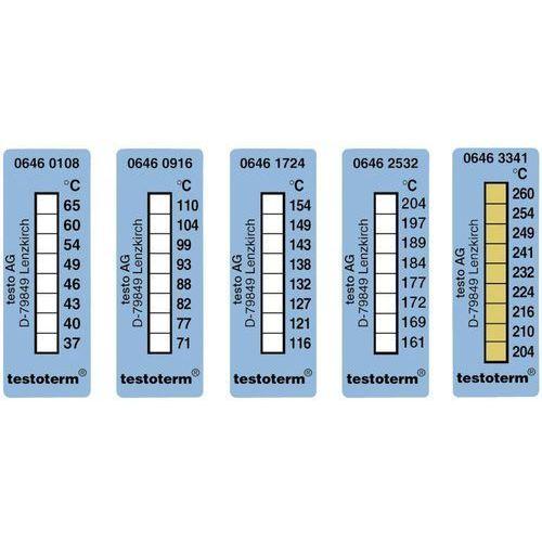 Paski termiczne testoterm, 50x18 mm, 204/210/216/224/232/241/249/254/260 Â