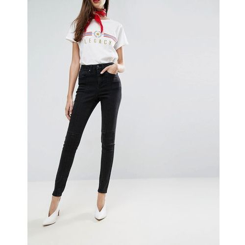 sculpt me high waisted premium jeans in washed black with panel seams - black marki Asos