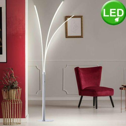 Leuchten-Direkt MAJA Lampa Stojąca LED Chrom, 3-punktowe - Purystyczny - Obszar wewnętrzny - Stehleuchte - Czas dostawy: od 3-6 dni roboczych