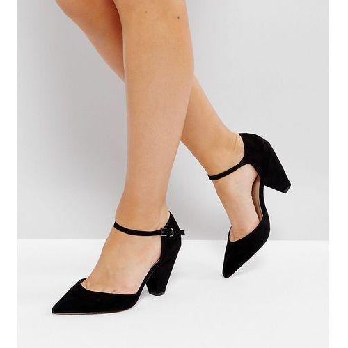 ASOS SPEAKER Wide Fit Pointed Heels - Black