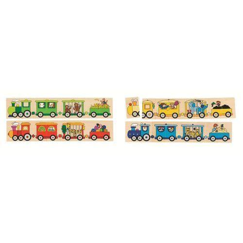 Puzzle i memo, lokomotywy, 32 el. marki Goki