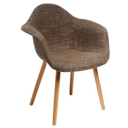 Krzesło cosyarm tapicerowane - brązowy marki D2.design