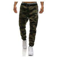 Spodnie męskie dresowe joggery moro multikolor Denley 3783E, kolor wielokolorowy