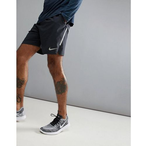 flex distance 7 inch shorts in black 892911-010 - black, Nike running