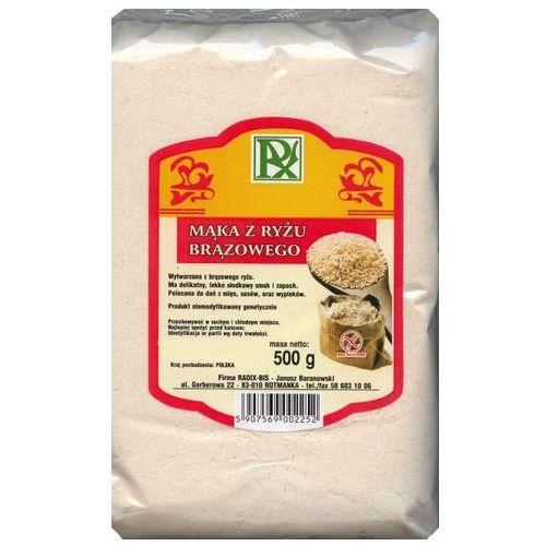 Mąka z ryżu brązowego 500g marki Radix-bis