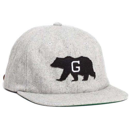 czapka z daszkiem GRIZZLY - California State G Strapback Grey (GRY) rozmiar: OS, kolor szary