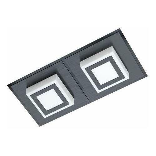 Eglo masiano 1 99362 kinkiet/plafon lampa ścienna/sufitowa 2x3,3w led czarny/satyna