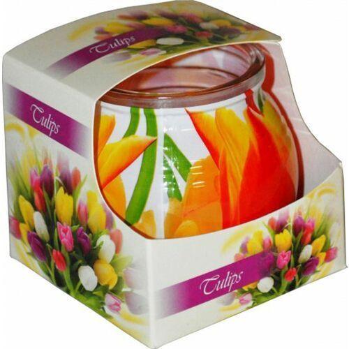 Świeca zapachowa w szklance powlekanej Miral Tulips