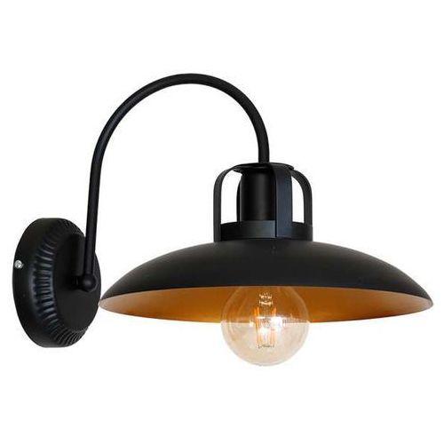 Kinkiet LAMPA ścienna FELIX MLP3681 Milagro industrialna OPRAWA metalowa czarna złota