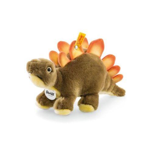 maskotka dinozaur siggi stegosaurus 30 cm, stojący, kolor brązowo-złoty wyprodukowany przez Steiff