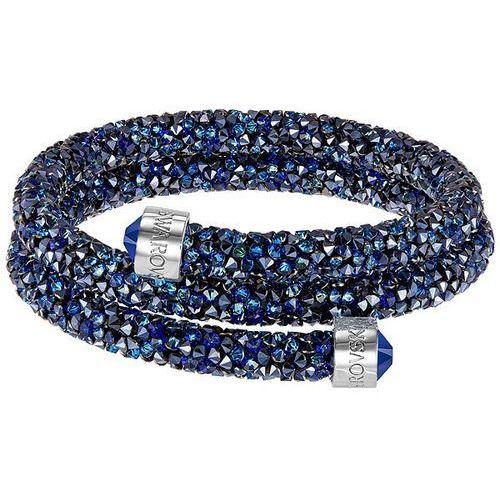 Swarovski Crystaldust Bangle Double, Blue Blue Stainless steel, 5255903