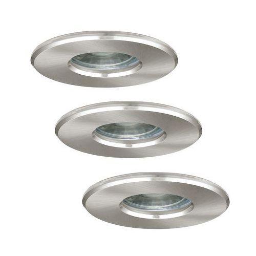 Oczko lampa sufitowa igoa 94979 oprawa podtynkowa spot metalowy wpust led 3,3w komplet 3 szt. ip44 satyna marki Eglo