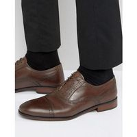 lace up brogue smart shoes in brown - brown, Red tape