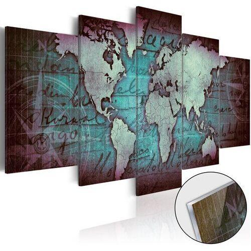 Obraz na szkle akrylowym - plexi: zielona mapa marki Artgeist