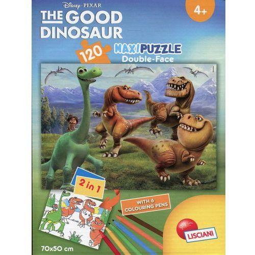 Lisciani Puzzle dwustronne maxi dobry dinozaur 120