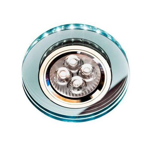 Oprawa sufitowa oczko halogenowe Candellux SS-23 CH/TR+WH 1x50W GU10 + 2,1W LED SMD chrom, biały 2226941 (5906714826941)