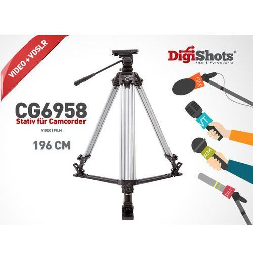 CG-6958 Statyw do kamer, głowica olejowa