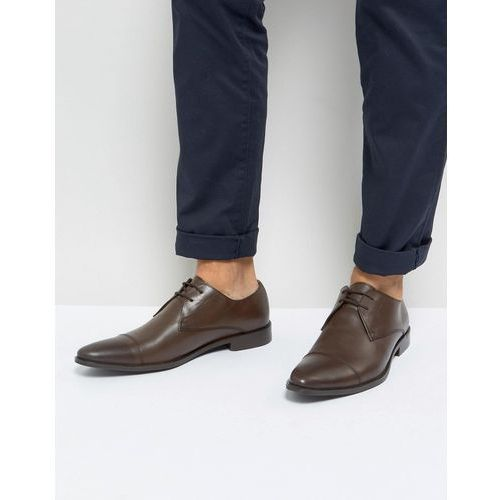 toe cap derby shoes in brown leather - brown marki Frank wright