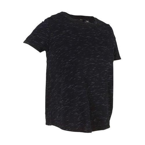 Shirt, krótki rękaw (2 części) bonprix czarny, bawełna