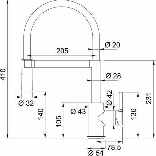 Franke Bateria lina 115.0626.087 chrom/szary