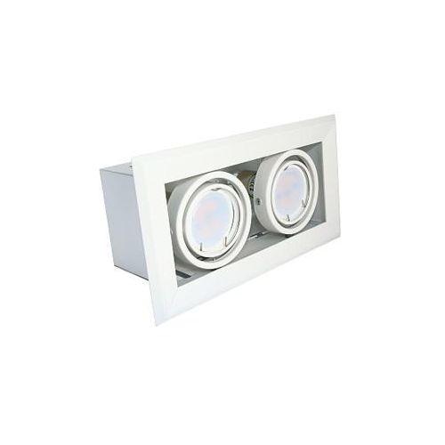 Mila Podtynkowa lampa sufitowa blocco ml473 gro metalowa oprawa led 14w oczko do wbudowania prostokątne białe (5907377244738)