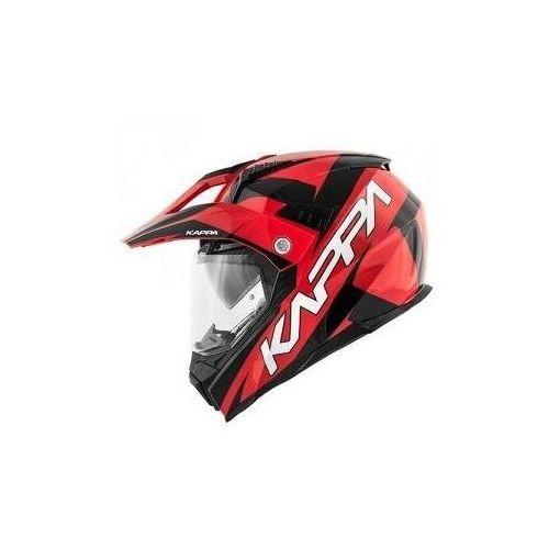 Kappa hkkv30ffhrb kask kv30 enduro flash dual czerwony/czarny marki Kappa_kaski
