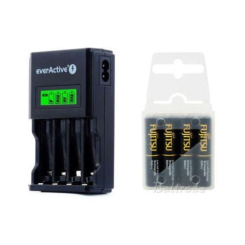 Ładowarka nc-450 black + 4 x akumulatory r03/aaa fujitsu black 950mah (box) marki Everactive