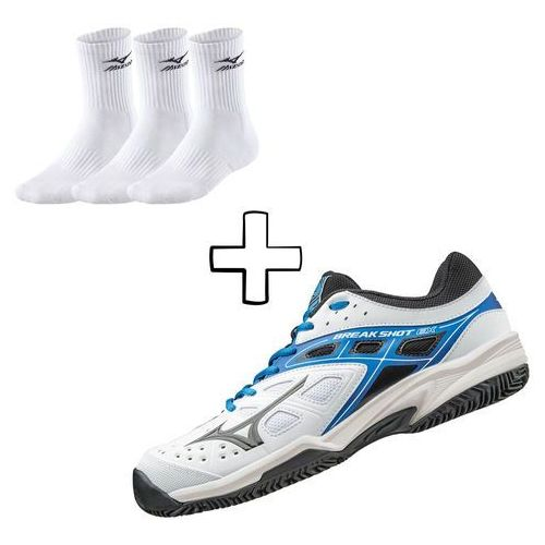 Mizuno  break shot ex cc - white/black