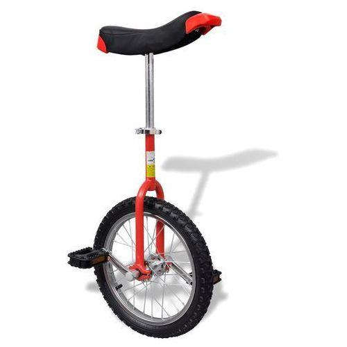 Vidaxl czerwony monocykl, 16 cali (8718475918097)