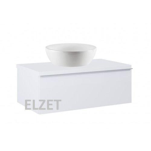 szafka look 1s white matt pod umywalkę nablatową + blat 80 white 167594+166892 marki Elita