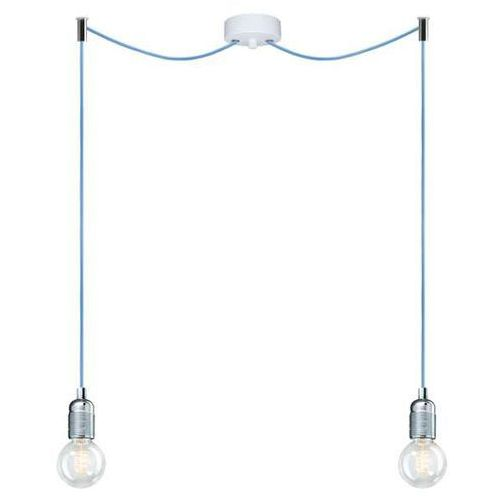 Sotto luce Lampa wisząca bi 2/s/white zinc metalowa oprawka industrialny zwis kable spider loft pająk cynk (1000000229578)