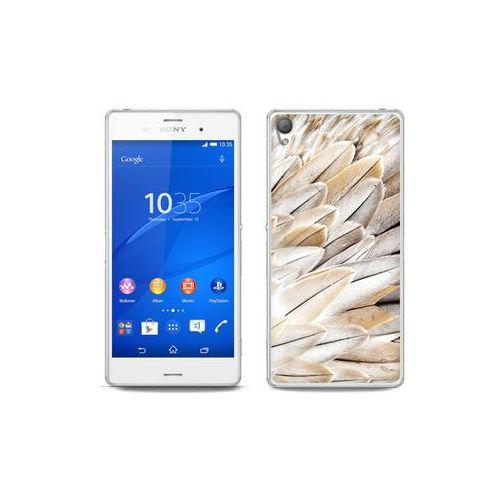 etuo Foto Case - Sony Xperia Z3 - etui na telefon Foto Case - białe pióra