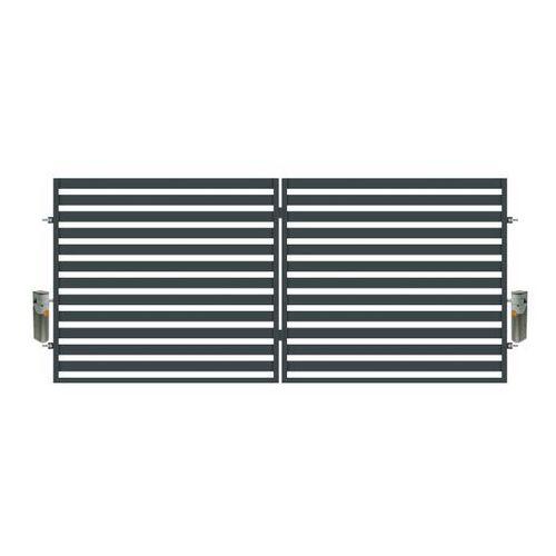 Brama dwuskrzydłowa z automatem Polbram Steel Group Lara 350 x 154 cm (5900652450121)