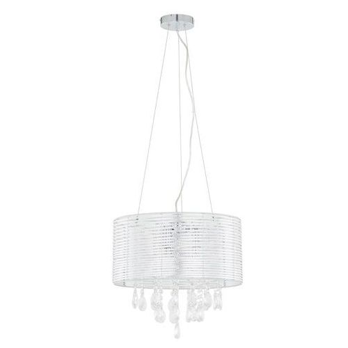 Żyrandol LAMPA wisząca FELLA MDM2130/3 SL Italux abażurowa OPRAWA kryształowa glamour crystal srebrny (5900644405320)
