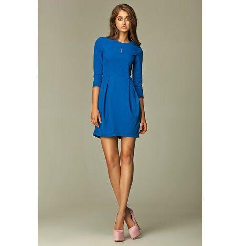 Praktyczna Sukienka Bombka Niebieska, bombka
