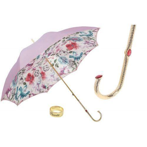 Parasol womens in lavender color, podwójny materiał, 189 5e836-17 p5 marki Pasotti