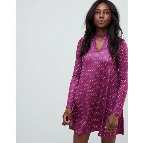 Glamorous star print swing dress - purple