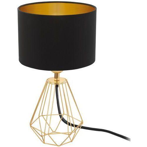Lampa stołowa carlton 2 czarno-złoty klosz, 95788 marki Eglo