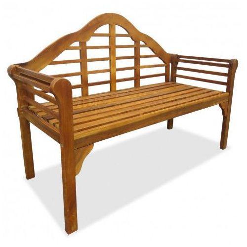Drewniana ławka ogrodowa Royale - brązowa, vidaxl_42632