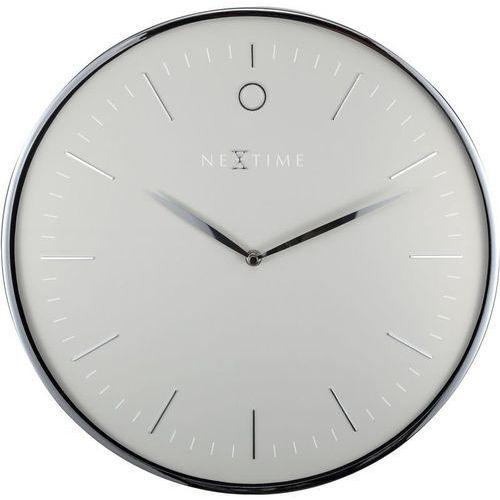 Nextime - zegar ścienny glamour - szary