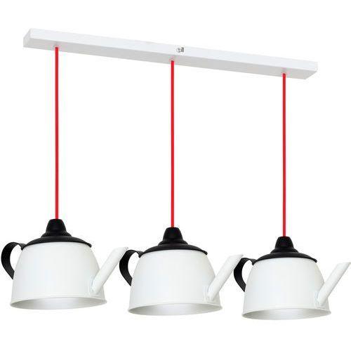 Lampa wisząca do kuchni czajnik tekane 3x40w e14 biały 787e >>> rabatujemy do 20% każde zamówienie!!! marki Aldex