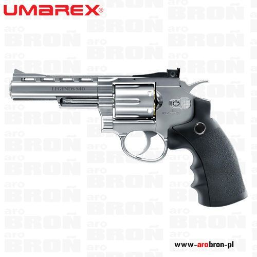 Umarex Wiatrówka rewolwer  legends s40 silver 4,5mm 5.8127 - śrut diabolo, co2