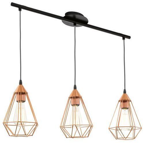 Lampa wisząca Eglo Tarbes 94195 druciana 3x60W E27 miedziania (9002759941956)