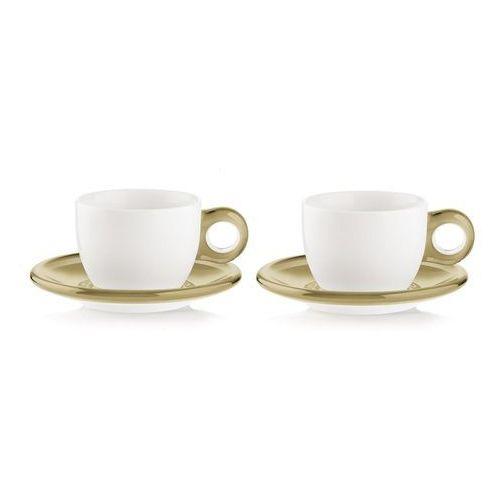 Zestaw 2 filiżanek do cappuccino gocce beżowy marki Guzzini